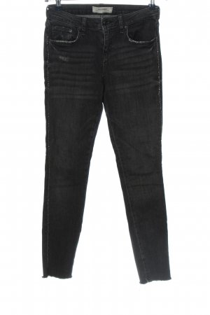 Zara Woman Stretchhose schwarz Casual-Look