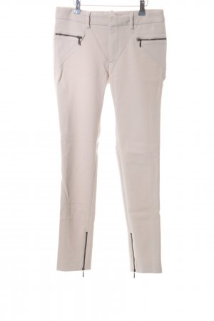 Zara Woman Stretchhose creme Casual-Look