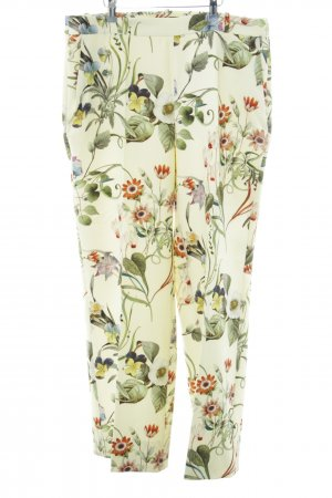 Zara Woman Stretchhose Blumenmuster Casual-Look