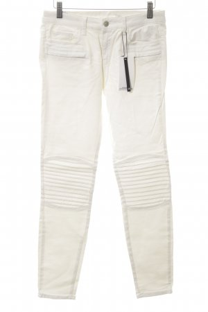 Zara Woman Stretchhose wollweiß Casual-Look