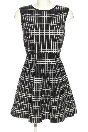 Zara Woman Stretchkleid schwarz-weiß Allover-Druck Casual-Look