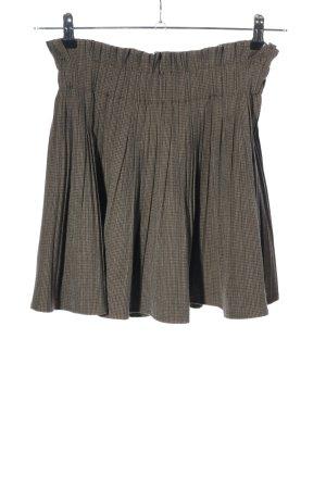 Zara Woman Jupe stretch brun-kaki motif à carreaux style décontracté