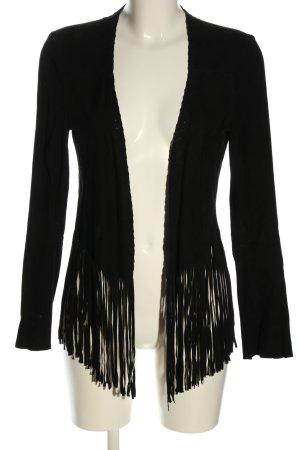 Zara Woman Strick Cardigan schwarz Casual-Look