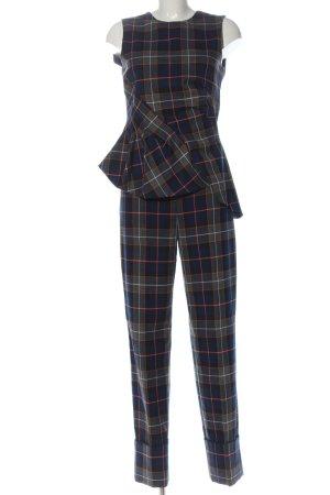 Zara Woman Dzianinowy podwójny zestaw  Wzór w kratkę W stylu casual