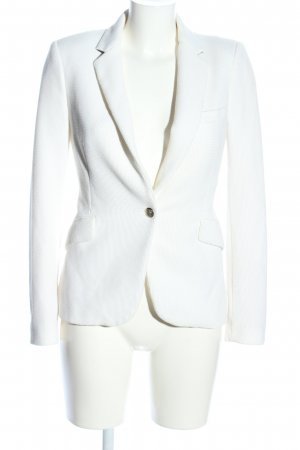 Zara Woman Blazer tejido blanco estilo «business»