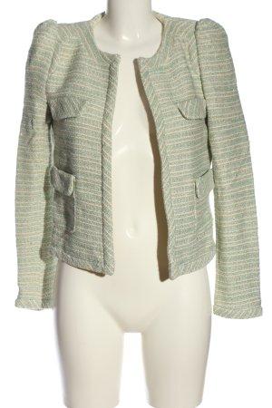 Zara Woman Strickblazer Streifenmuster Casual-Look