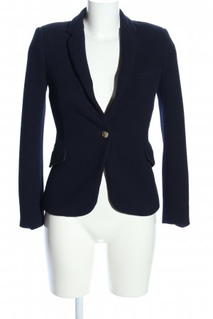 Zara Woman Strickblazer blau Business-Look