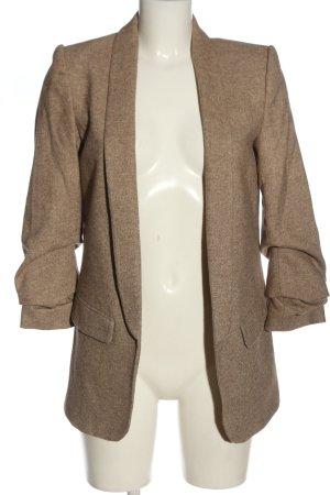 Zara Woman Knitted Blazer natural white-cream weave pattern classic style