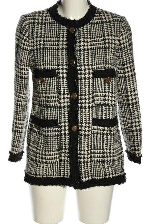 Zara Woman Strickjacke Karomuster Casual-Look