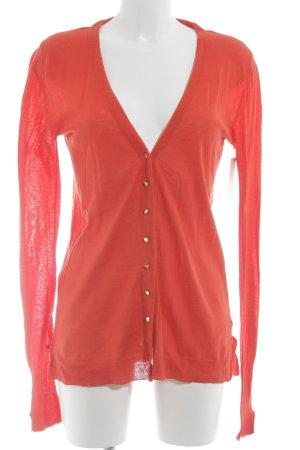 Zara Woman Strickjacke rot Casual-Look