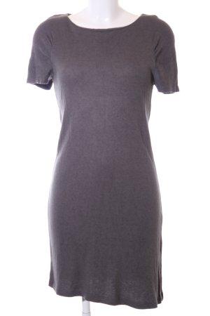 Zara Woman Strickkleid hellgrau meliert Casual-Look