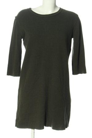 Zara Woman Strickkleid khaki Casual-Look