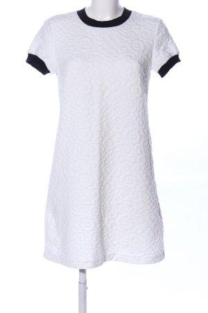 Zara Woman Abito di maglia bianco-nero stile professionale