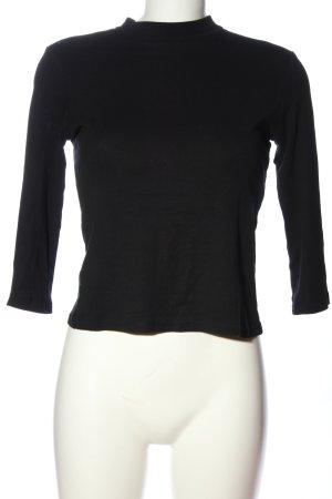Zara Woman Strickpullover schwarz Casual-Look