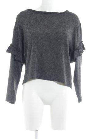 Zara Woman Strickpullover dunkelgrau