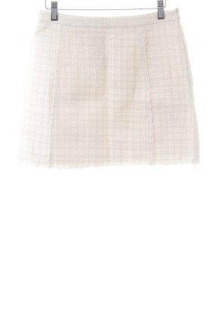 Zara Woman Strickrock wollweiß-weiß Allover-Druck Casual-Look