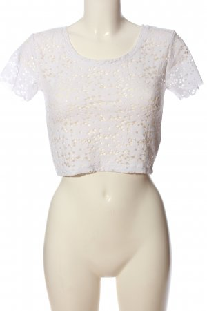 Zara Woman Knitted Top white casual look