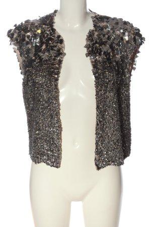 Zara Woman Strickweste silberfarben-creme Elegant
