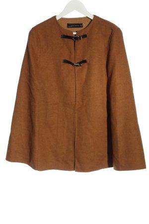 Zara Woman Poncho brun-noir moucheté style décontracté