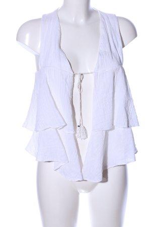 Zara Woman Strickweste weiß Elegant