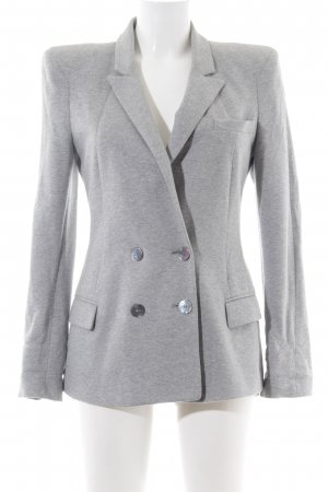 Zara Woman Sweatblazer hellgrau meliert Business-Look