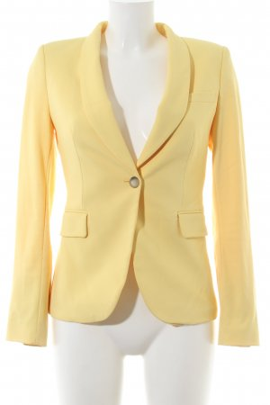 Zara Woman Sweatblazer blassgelb Business-Look