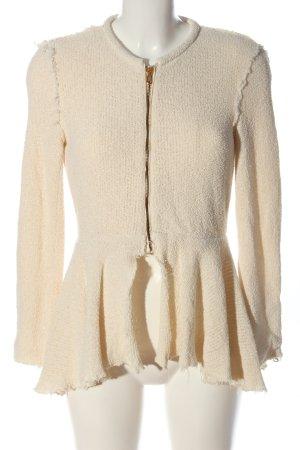 Zara Woman Sweatjacke wollweiß Casual-Look