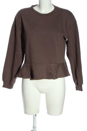 Zara Woman Sweatshirt braun Casual-Look
