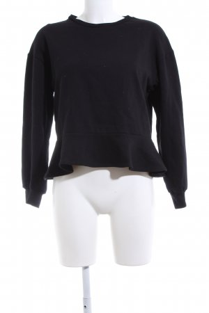 Zara Woman Sweatshirt schwarz Casual-Look
