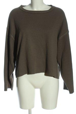 Zara Woman Sweatshirt khaki Casual-Look