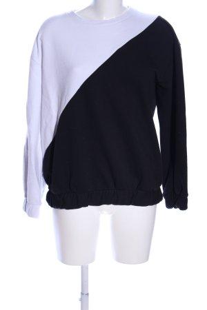 Zara Woman Sweatshirt schwarz-weiß Casual-Look