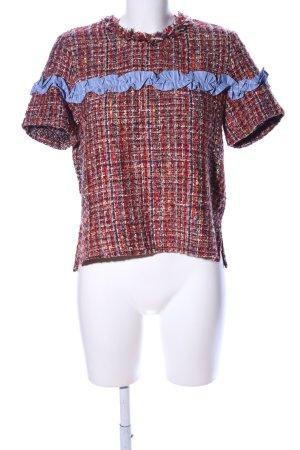Zara Woman T-Shirt Allover-Druck Casual-Look