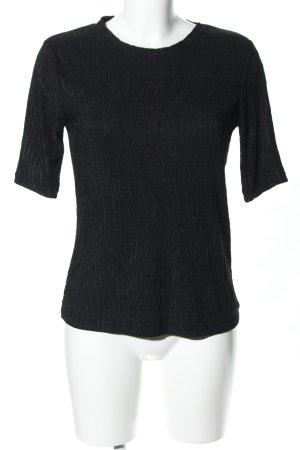 Zara Woman T-Shirt schwarz Business-Look