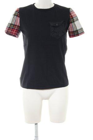Zara Woman T-Shirt Karomuster Casual-Look