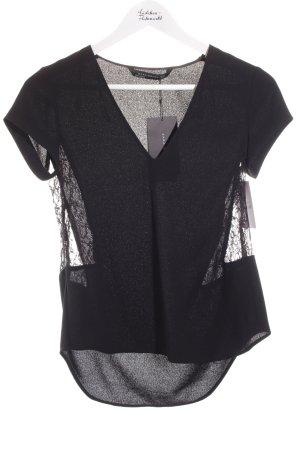 Zara Woman T-Shirt schwarz Elegant
