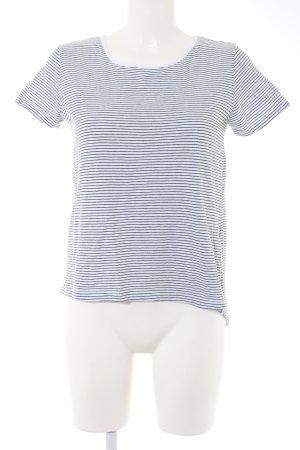 Zara Woman T-Shirt schwarz-weiß Streifenmuster Casual-Look