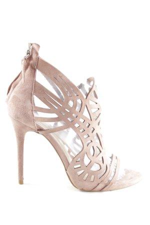 Zara Woman Zapatos de tacón con barra en T blanco puro look casual