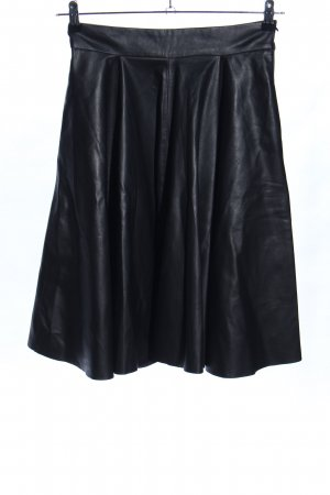 Zara Woman Circle Skirt black elegant
