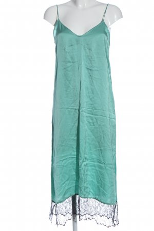 Zara Woman Abito scamiciato turchese stile casual