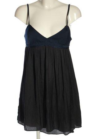 Zara Woman Abito scamiciato nero-blu stile casual