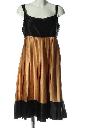 Zara Woman Trägerkleid schwarz-hellorange Elegant