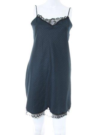 Zara Woman Abito scamiciato blu-nero motivo a quadri elegante