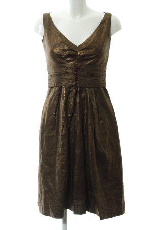 Zara Woman Abito scamiciato bronzo elegante