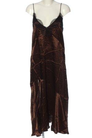 Zara Woman Trägerkleid braun Elegant