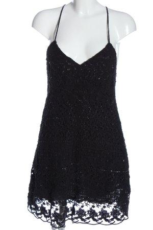 Zara Woman Abito scamiciato nero Cotone