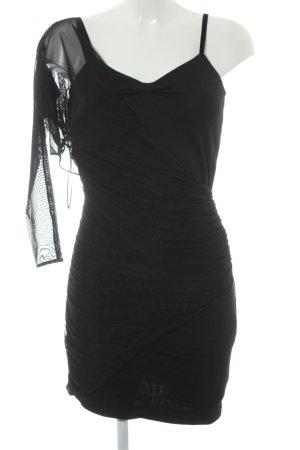 Zara Woman Abito scamiciato nero stile festa