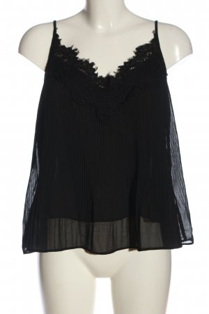 Zara Woman Trägertop schwarz Casual-Look