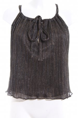 Zara Woman Trägertop schwarz-bronzefarben Glitzer-Optik