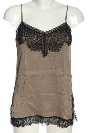 Zara Woman Trägertop braun-schwarz Casual-Look