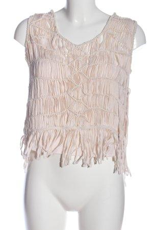 Zara Woman Trägertop wollweiß Casual-Look